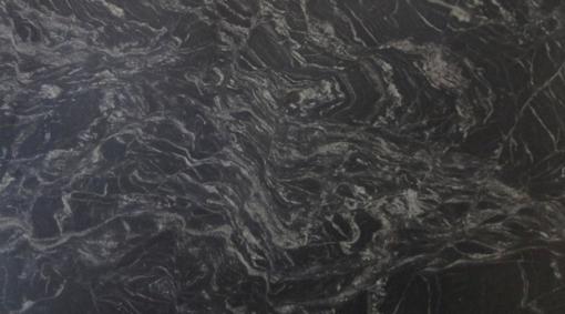 Black Stream Leather Granite Slab