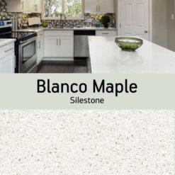 Blanco Maple Silestone Quartz Sample Kitchen