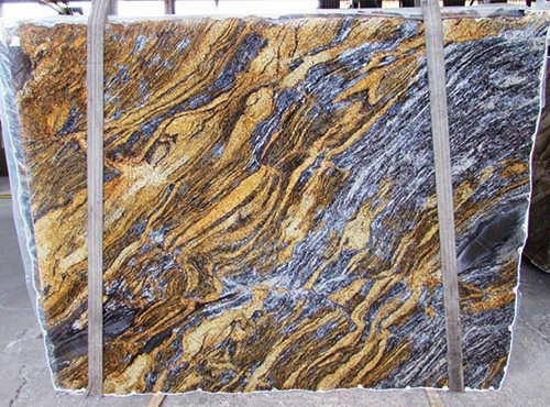 Blue Fire Granite Slab