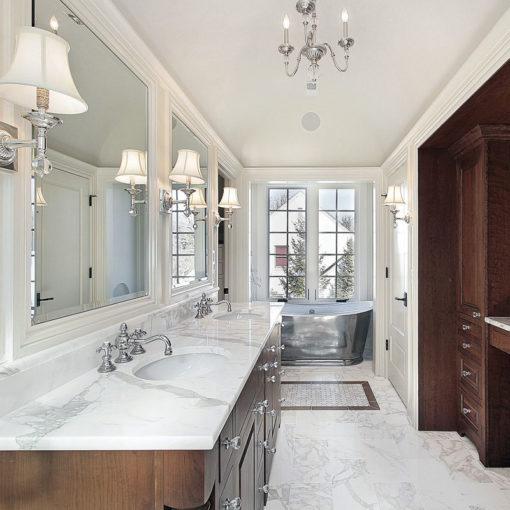 Calacatta Diamond Marble Bathroom