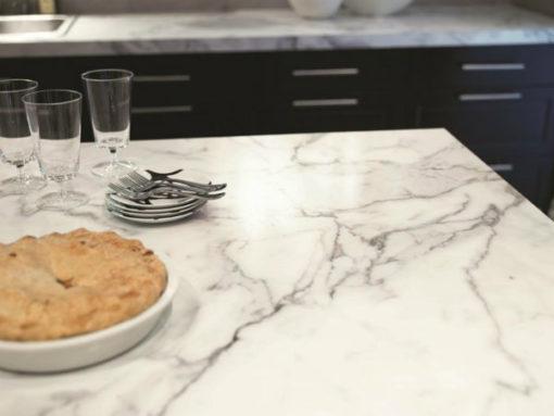 Calacatta Diamond Marble Kitchen1