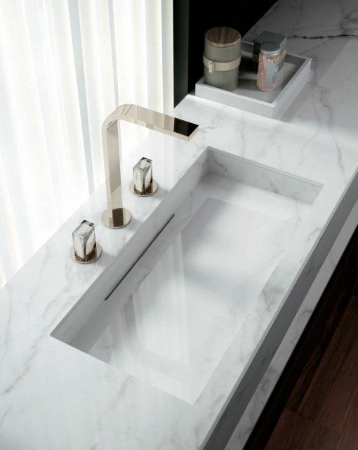 Calacatta Lincoln Infinity Porcelain Bathroom Vanity Sink Countertops