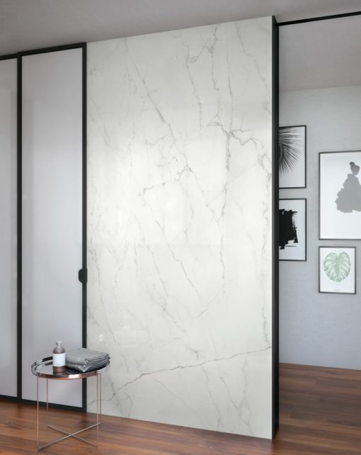 Calacatta Lincoln Infinity Porcelain Countertop Walls