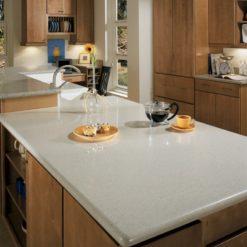 Capri Limestone Silestone Quartz Kitchen