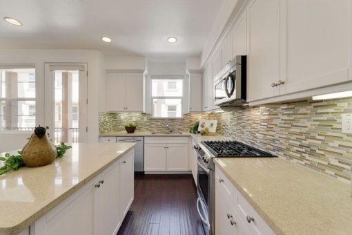Capri Limestone Silestone Quartz Kitchen1