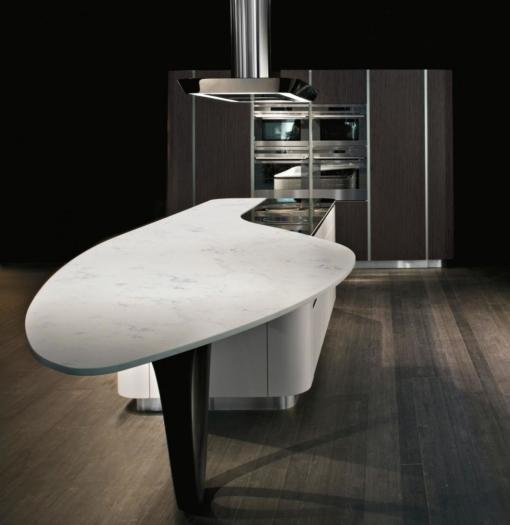 Carrara White Quantum Quartz Kitchen Countertops