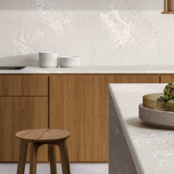 Cloudburst Concrete Caesarstone Quartz Kitchen