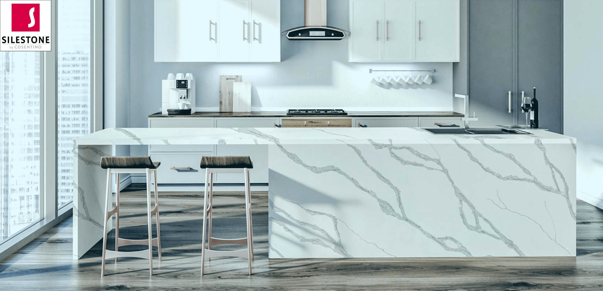 Silestone Bianco Calacatta Quartz Countertops Silestone vs Granite