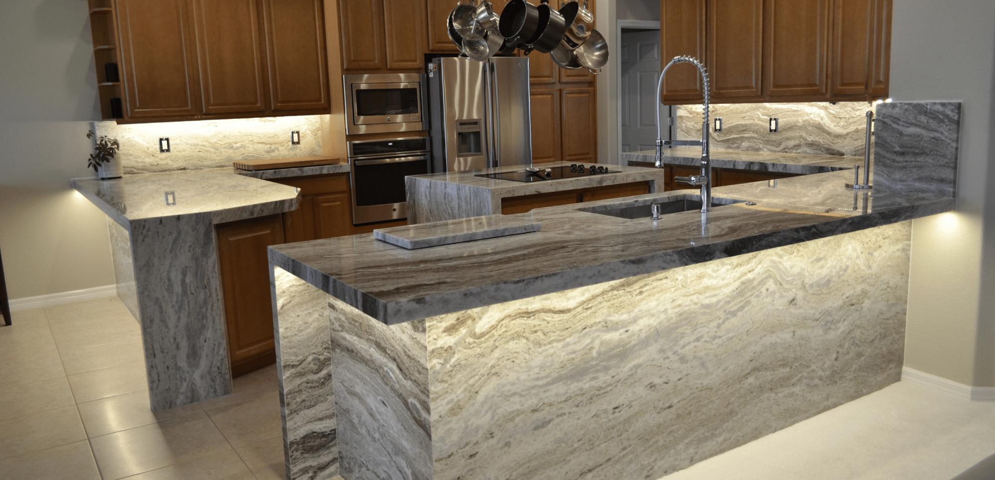 Silestone quartz vs Granite Countertops Brown Fantasy Counters