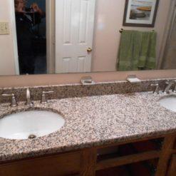 Crema Caramel Granite Bathroom
