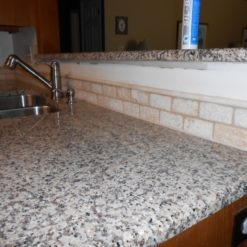 Crema Caramel Granite Kitchen