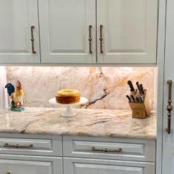 Crystallus Fire Granite Kitchen