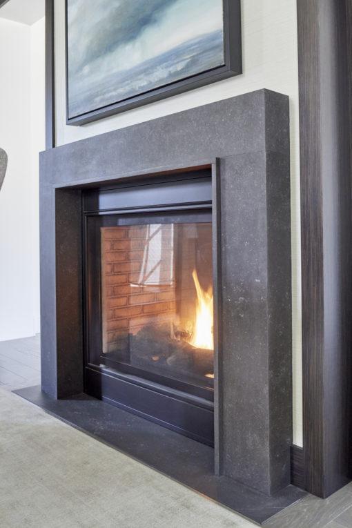Dekton Fossil Fireplace Mantle