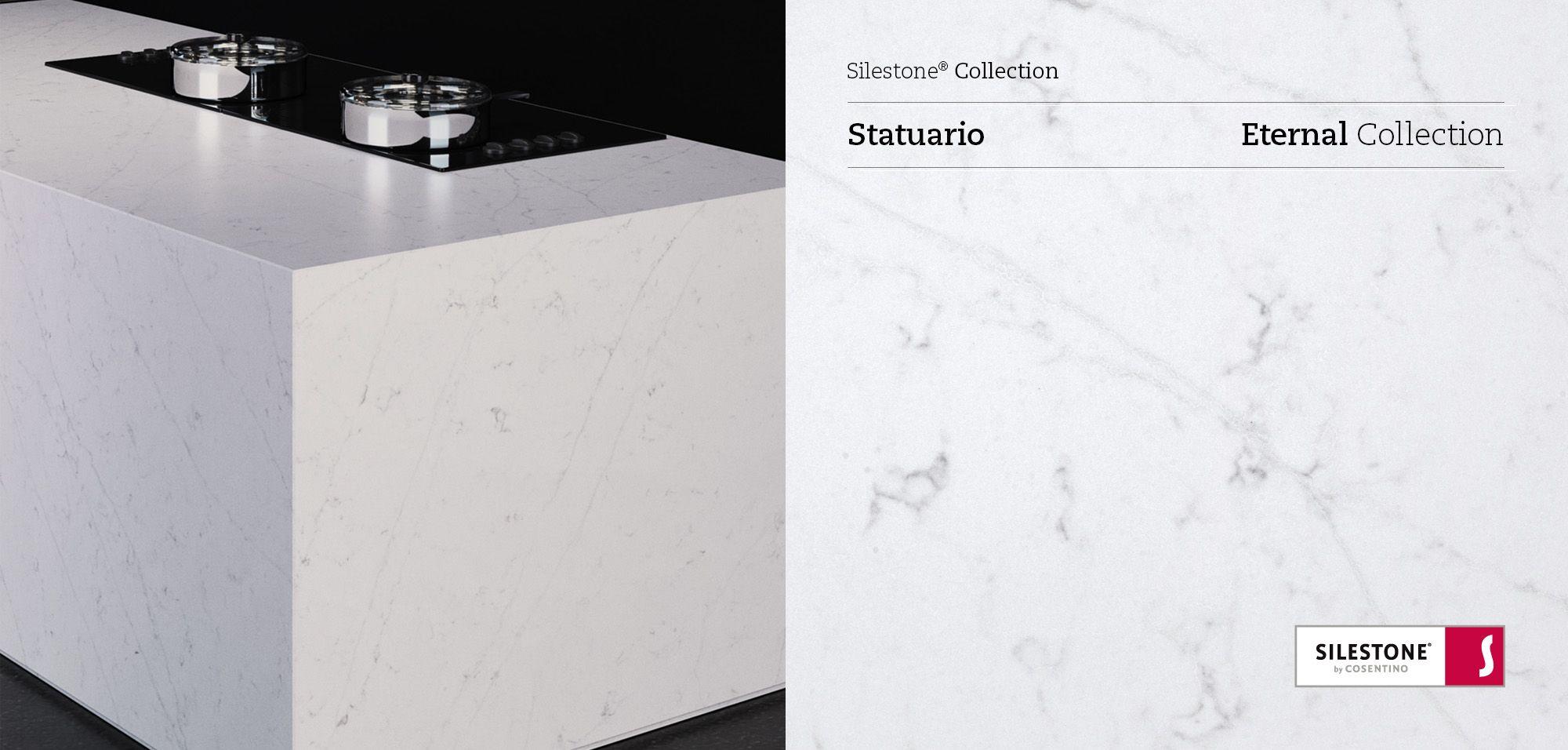 Et Statuario Silestone Quartz Sample Kitchen SIlestone Countertops