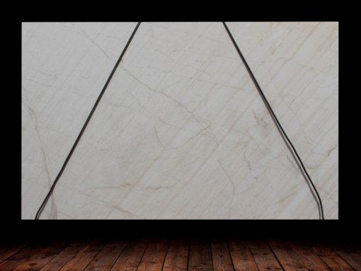 Exclusive White Leather Finish Quartzite Full Slab