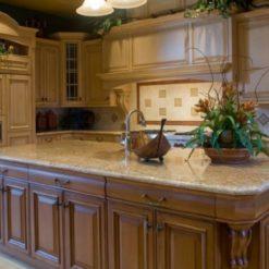 Giallo Ornamental STD Granite Kitchen