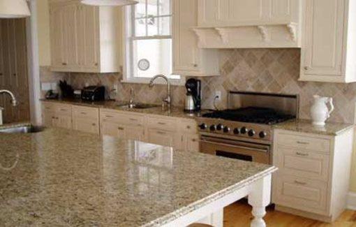 Golden Flower Granite Kitchen