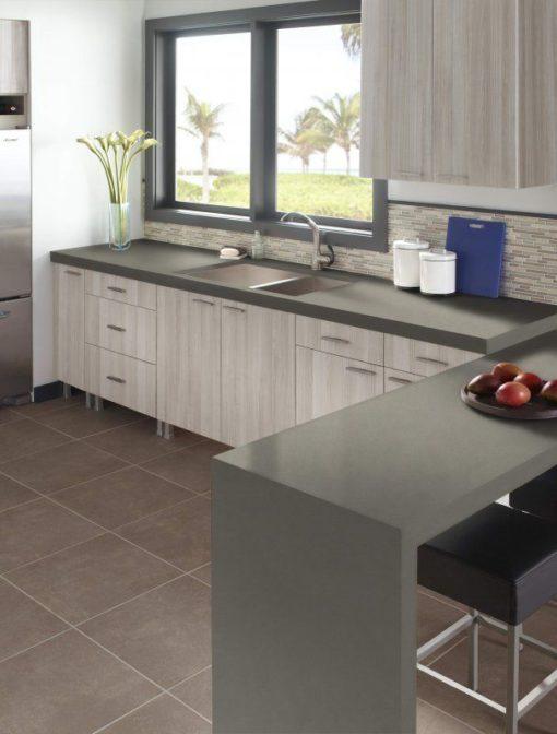 Graphite Gray LG VIatera Quartz Kitchen1