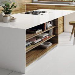 Iconic White Silestone Quartz Kitchen1