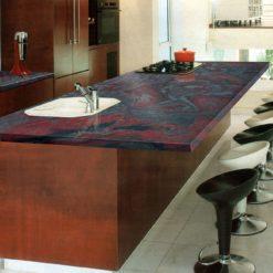 Iron Red Granite Kitchen1