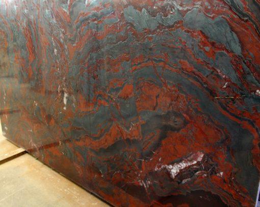 Iron Red Granite Slab1