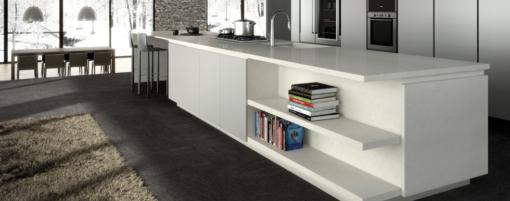 London Grey Caesarstone Quartz Kitchen