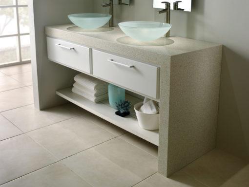 Luna Silestone Quartz Bathroom