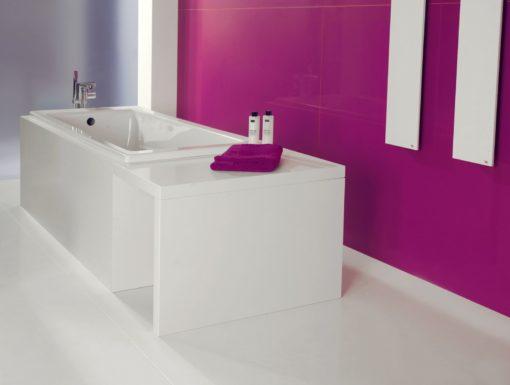 Magenta Energy Silestone Quartz Bathroom