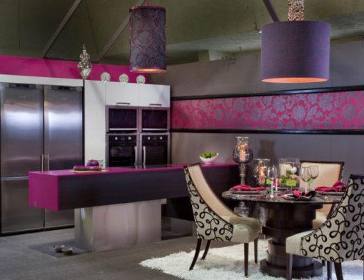 Magenta Energy Silestone Quartz Kitchen1