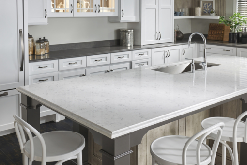 Minuet LG Viatera Quartz Kitchen Island Countertops