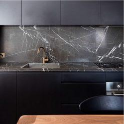 Nero Venato Marble Kitchen