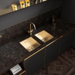 Nocturne LG Viatera Quartz Bathroom Countertops