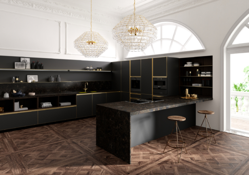 Nocturne LG Viatera Quartz Kitchen Countertops