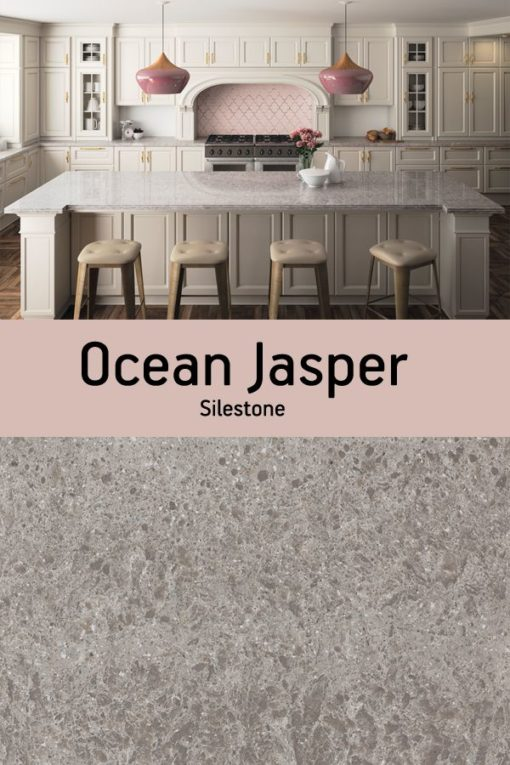 Ocean Jasper Silestone Quartz Sample Kitchen