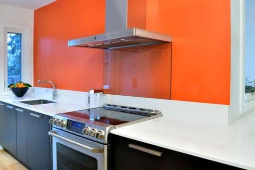 Orange Cool Silestone Quartz Kitchen1