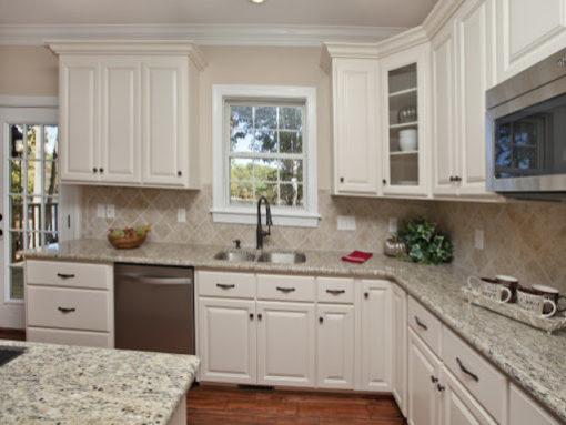 Ornamentale White Granite Kitchen 1