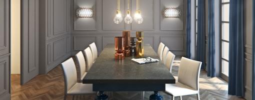Piatra Grey Caesarstone Quartz Table