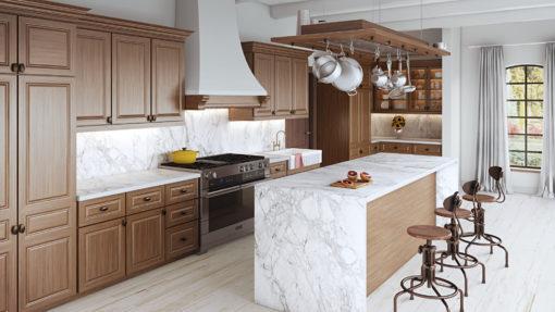 Portum Dekton Kitchen Island Countertops and Full Backsplash