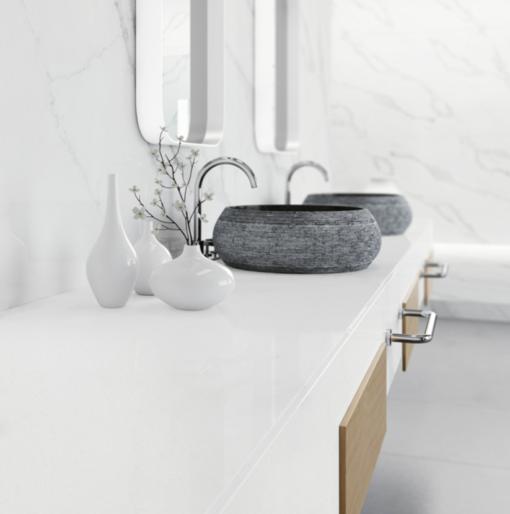 Quantum White Quantum Quartz Bathroom