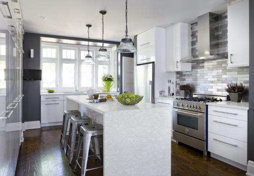 Quartet LG Viatera Quartz Kitchen Island Countertops