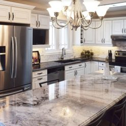 River Blue Granite Kitchen