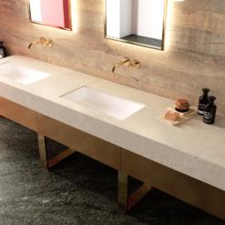 Rondo Brushed LG Viatera Quartz Bathroom Sinks
