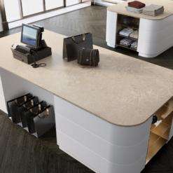 Rondo Brushed LG Viatera Quartz Countertops