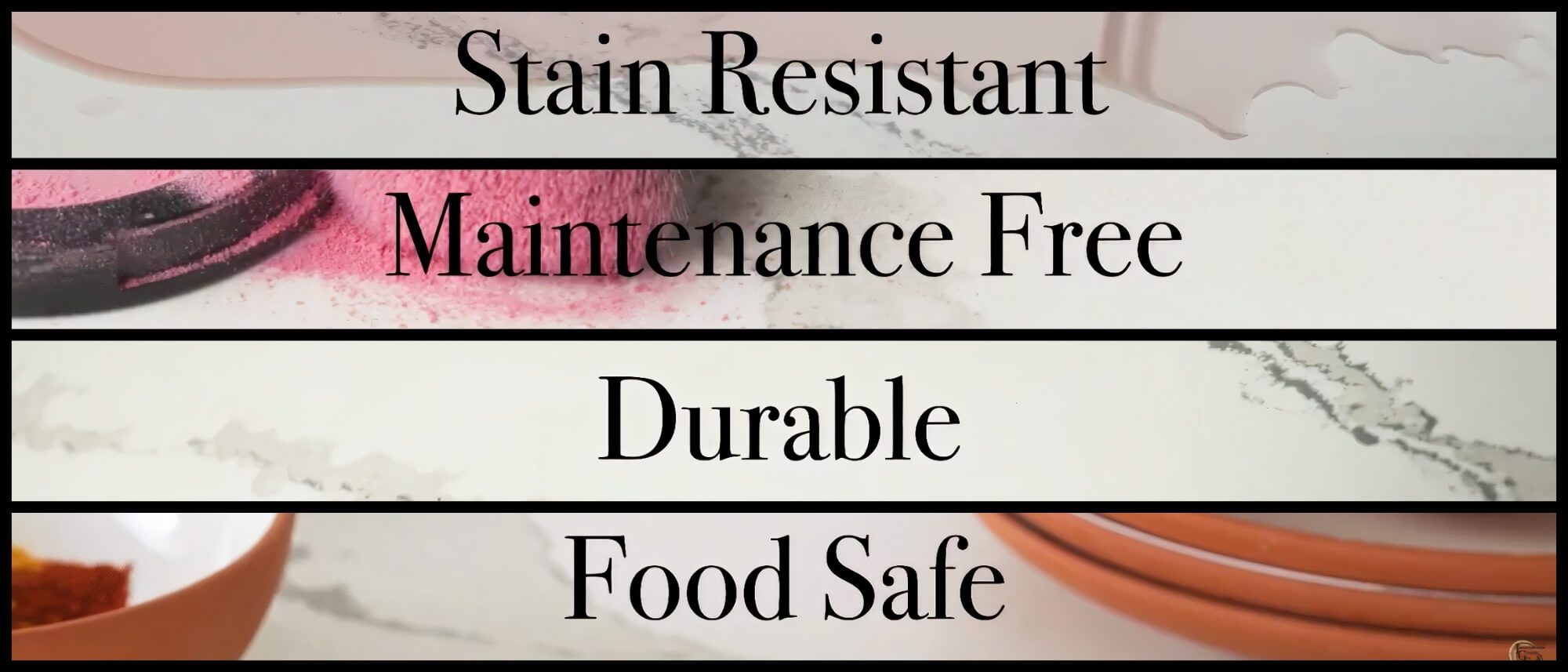Cambria Is Stain Resistant Maintenance Free Durable Food Safe NSF51