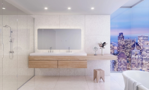Salt Lake Cambria Quartz Bathroom
