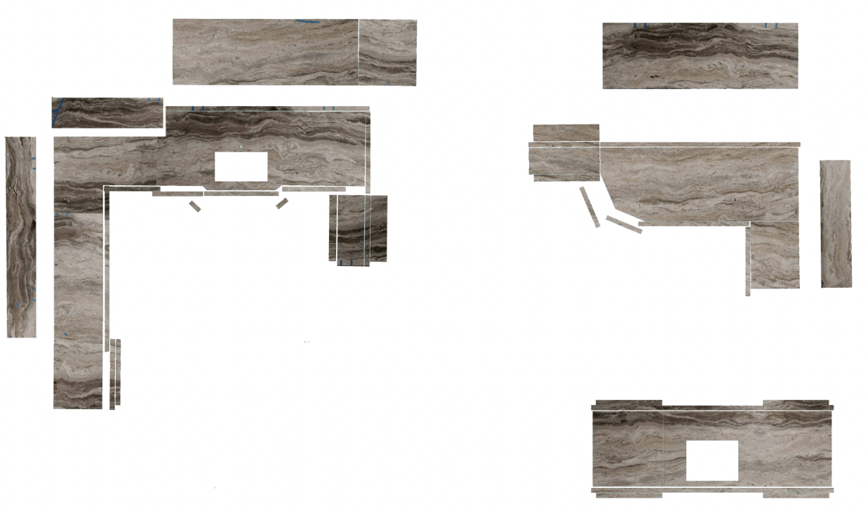 Brown Fantasy Kitchen and Bathroom Countertops Digital Layout by International Granite and Stone