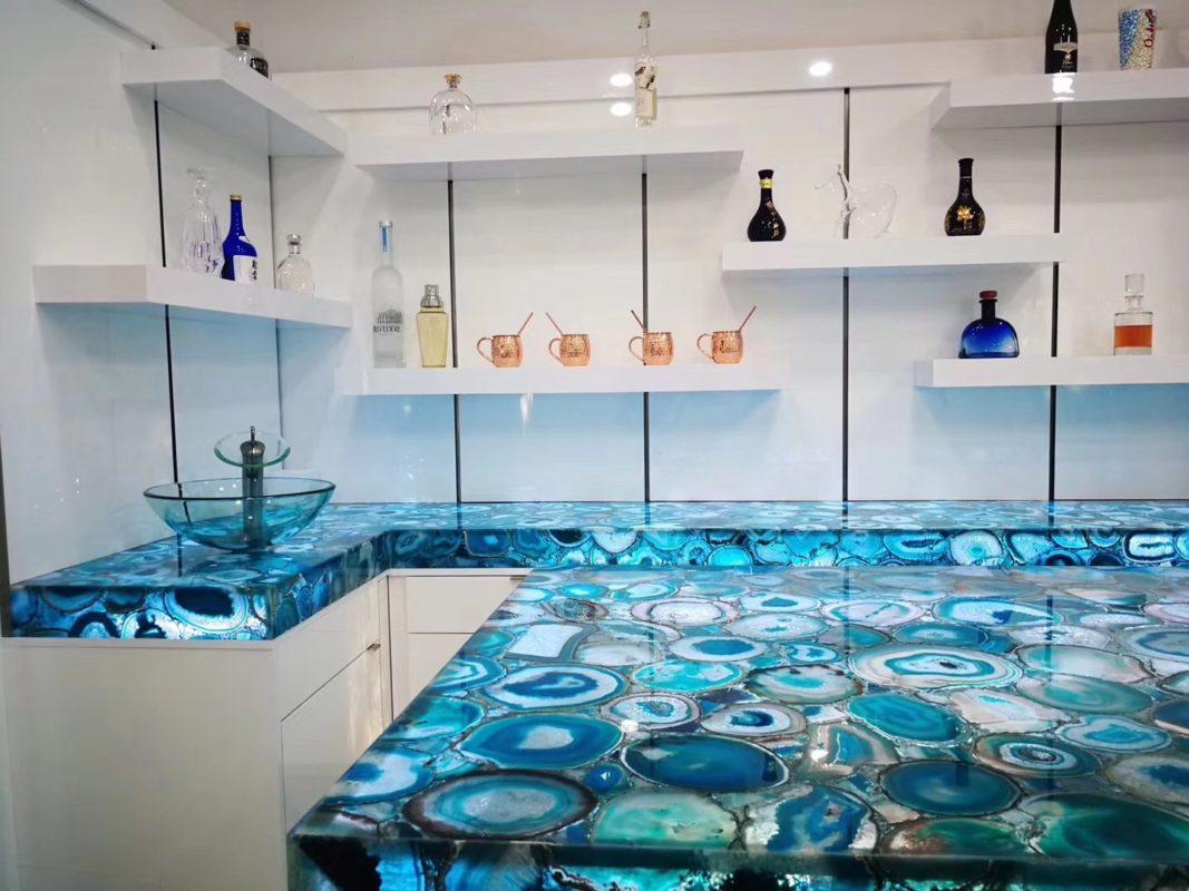 Semi-Precious Gemstone Countertops