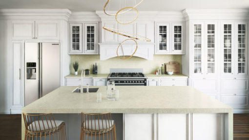 Silken Pearl Silestone Quartz Kitchen1