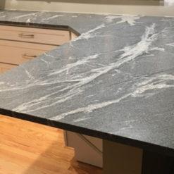 Silver Grey Honed Granite Kitchen