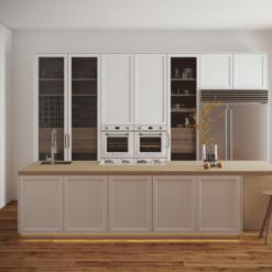 Silver Lake LG Viatera Quartz Kitchen